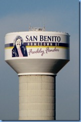 7189 Texas, San Benito - US-77 North (US-83 North) - Freddy Fender water tower