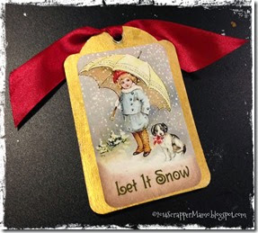 Back of Glitter Snowman Tag