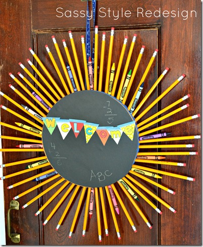 back to school pencil wreath 1