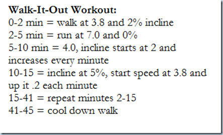 walk it out workout
