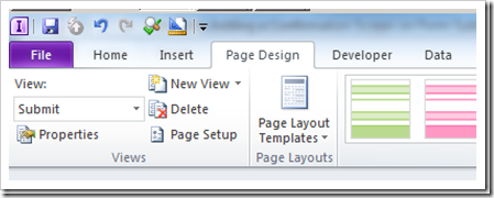 InfoPath Designer 2010:Using Views to Add a Confirmation Screen on Form Submit