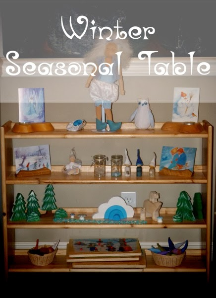 Winter Seasonal Table Title - from Blue Bells and Cockle Shells