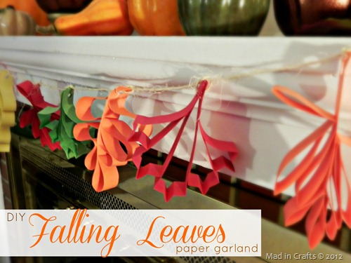 DIY Falling Leaves Paper Garland