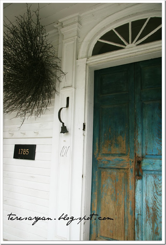 blue patina front door