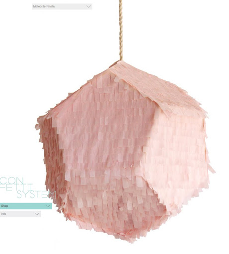 The pale pink pinata would be the focal point of your party.