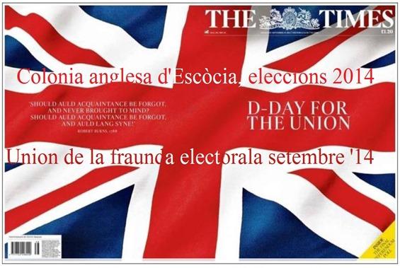 Portada Escòcia referèndum 2014 The Times fraunda electorala 2014