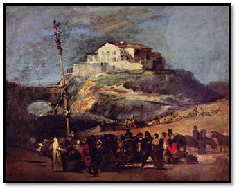 Francisco de Goya y Lucientes, La Cucaña.