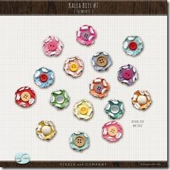 button flower element scrapbook free