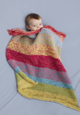 Sunshine Day Baby Throw by Lion Brand