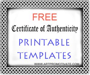 Free Coa Printable Templates A Certificate ...  Free Template For Certificate