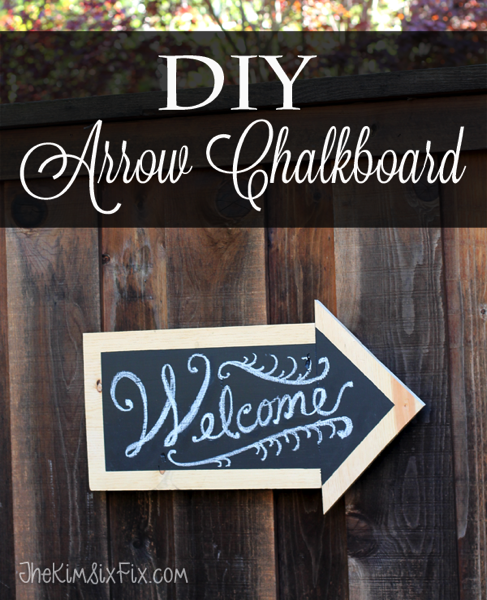 DIY Arrow Chalkboard