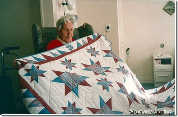 Aunty Win with Quilt