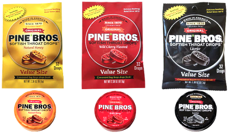 Assorted Pine Bros. Softish Throat Drops