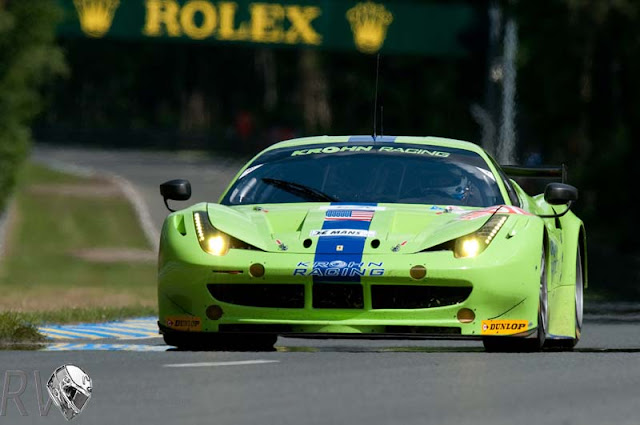 Krohn Racing stood on the podium in GTE Am after a solid effort at Le Mans (PHOTO: Ferrari)