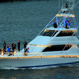 Christmas Lights And Decorations On The Holiday Yacht Parade - San Juan, Puerto Rico