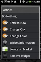 Screenshot of dxTop Weather Widget