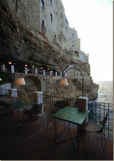 Restaurant de l'hôtel Grotta Palazzese