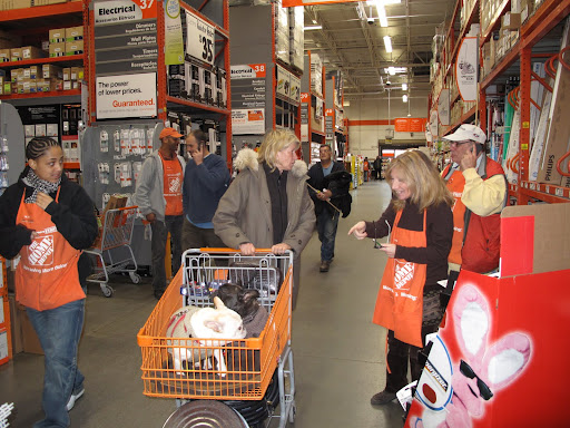 There were lots of shoppers and lots of curious Home Depot employees.
