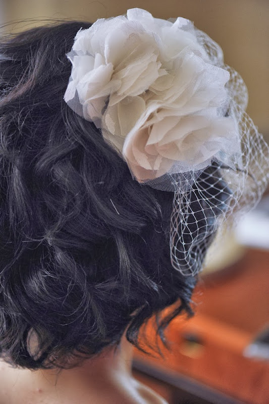 Wedding diy birdcage veil with flowers fafafoom diy projects pin it on pinterest solutioingenieria Gallery