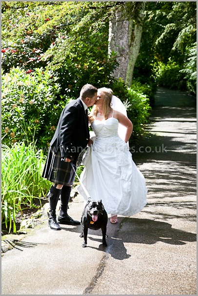 dog at wedding wedding photography at the cults hotel aberdeen