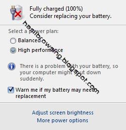 ketika baterai perlu diganti