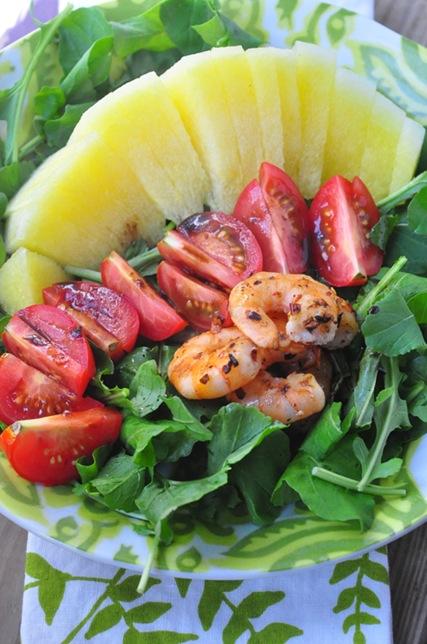 melon_tomato_shirmp_arugula-salad