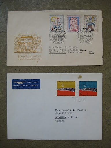 these are two of the beautiful envelopes we purchased.