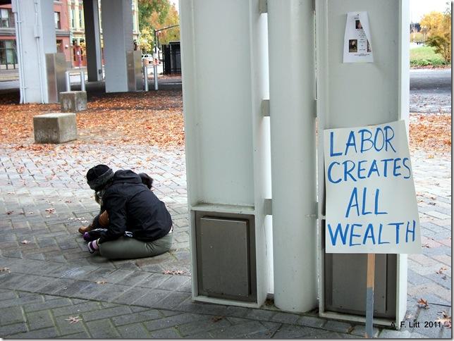 Occupy Portland - N17: Occupy the Banks!  Portland, Oregon.  11:05 AM