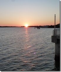 Sunset from the public pier in Cedar Key FL