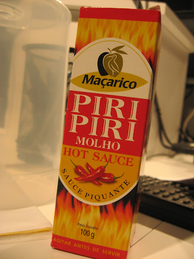 If a Portuguese dish is spicy, it's probably got piri piri sauce, a very hot condiment made from bird's eye peppers that is served alongside beef skewers, rice, and many other traditional foods.