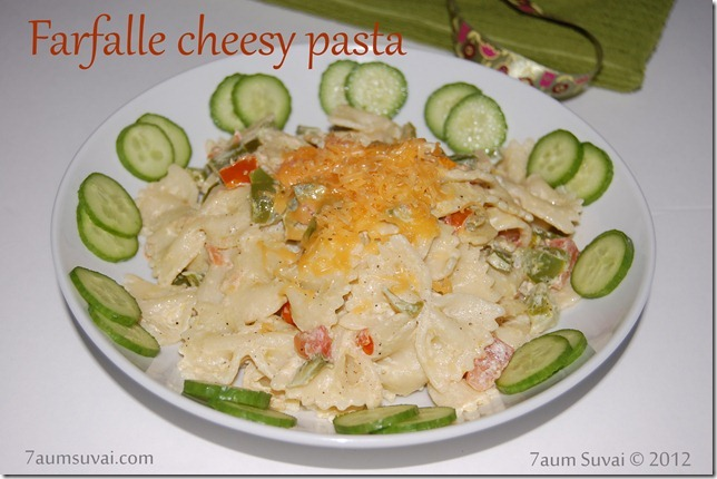 Farfalle cheesy pasta Pic1