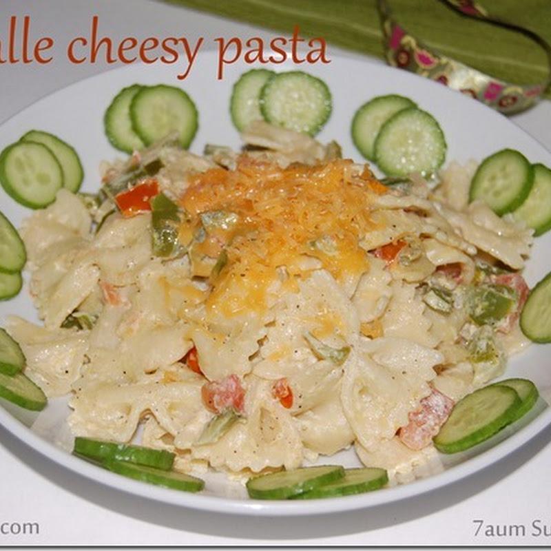 Farfalle cheesy pasta