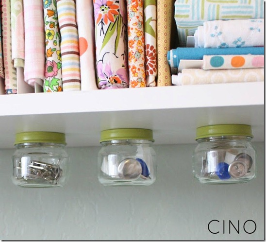 Under Shelf Jar Storage by CINO