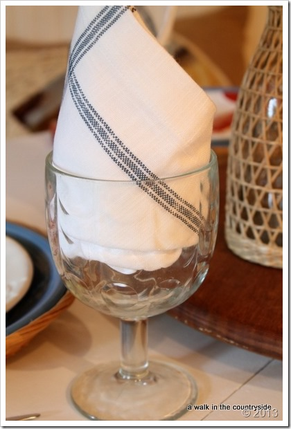 vintage goblets and PB napkins