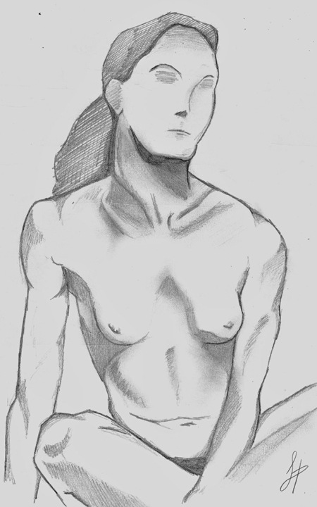 Mujer desnuda, por Dolores Hernández