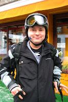 Matt ready to snowboard on Australia Day