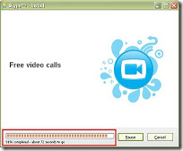 progress proses instalasi Skype