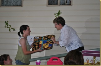 Presentation of quilts Begonia 3