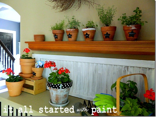 potting_bench_summer_mantel_staircase_view