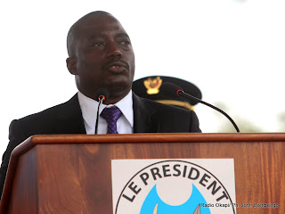 Joseph Kabila lors de son discours d'investiture le 20/12/2011 à Kinshasa. Radio Okapi/ John Bompengo