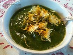 soupe papaye orange persil oignon vert