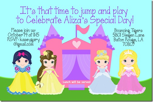 aliza's 3 year old party invite