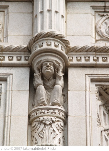 'Gargoyle Supporting An Ornamental Pillar At 575 Seventh Street, NW (Washington, DC)' photo (c) 2007, takomabibelot - license: http://creativecommons.org/licenses/by/2.0/