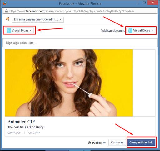 Como colocar GIFs animados no Facebook - Visual Dicas