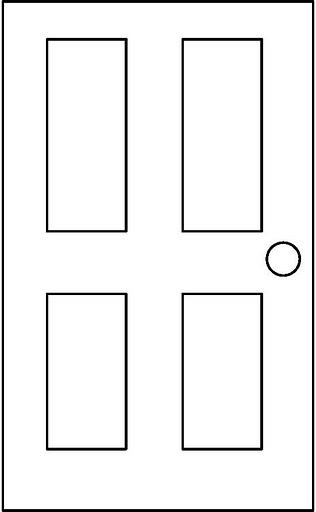 Puerta para colorear related keywords puerta para - Dibujos de puertas ...
