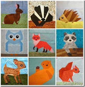 Woodland Creatures Paper Pieced