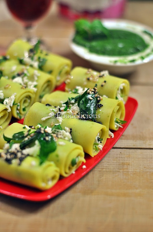 Foodelicious - Mixed Lentils Khandvi