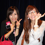 the beautiful marie and her friend at star fire tokyo in Ginza, Tokyo, Japan