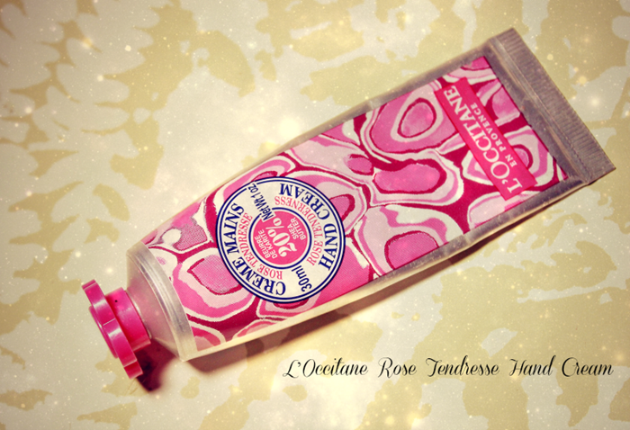 L'Occitane rose hand cream the blushing giraffe