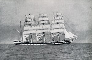 The MEDWAY leaving New York. Lent by Captain J. Fitzpatrick. Del libro THE LAST OF THE WINDJAMMERS